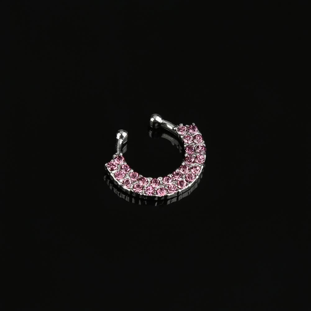 Nose Ring Fake Septum Clip on Non-piercing Hanger-ring