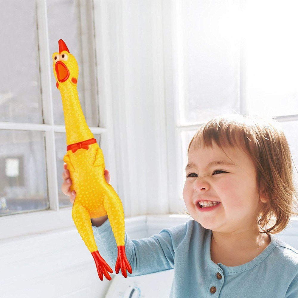17CM Screaming Chicken Squeeze Sound Toy Pets Shrilling Decompression Tool Funny Gadgets