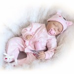 22inch 55cm Reborn Baby Doll Girl PP filling Silicon With Clothes Lifelike Cute Gifts Toy