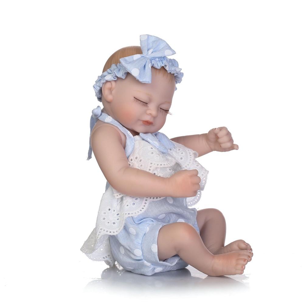 10inch 25cm Reborn Baby Doll Boy Full Silicone Sleeping Doll Bath Toy Realitic Lifelike Pink