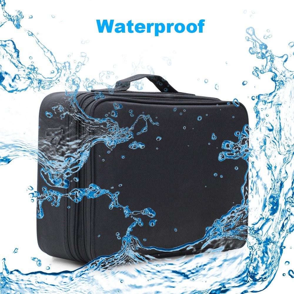 Cosmetic Case Organizer Waterproof Large Capacity Makeup Storage Bags Travel Beauty Artist Brush Box with Shoulder Belt