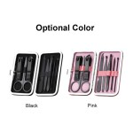 8pcs Stainless Steel Kit Pedicure Manicure Set Nail Clippers Scissors Ear Pick Acne Needle Traveling Grooming Kit