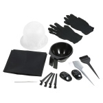 Hair Coloring Kit Dyeing Bowl Brush Salon Apron Hair Cap Hook Sectioning Clips Hairdressing Dyeing Tool