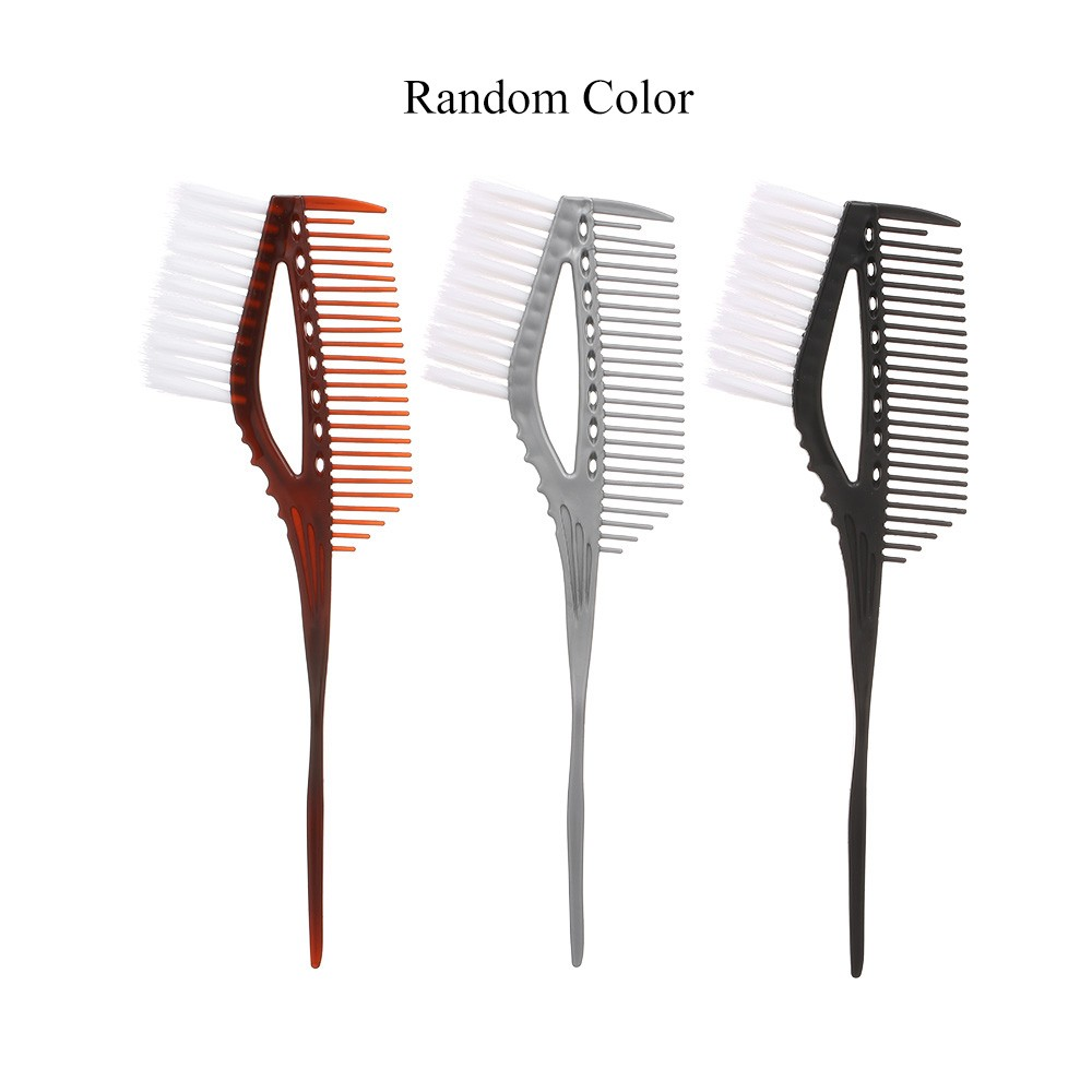 Salon Hair Colouring Comb Dyeing Brush Hair Color Mixing Comb With White Brush Tint Dye Coloring Perm Barber Hairdressing Tool