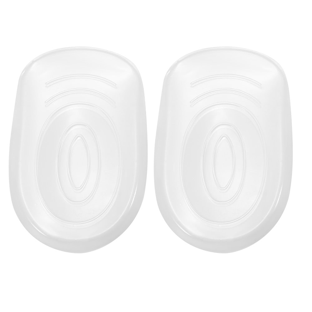 1 Pair Silicone Heel Insoles Shoe Cushion Pad Transparent Pad Massager Protector High Heel Shoe Elastic Foot Care Anti-slip