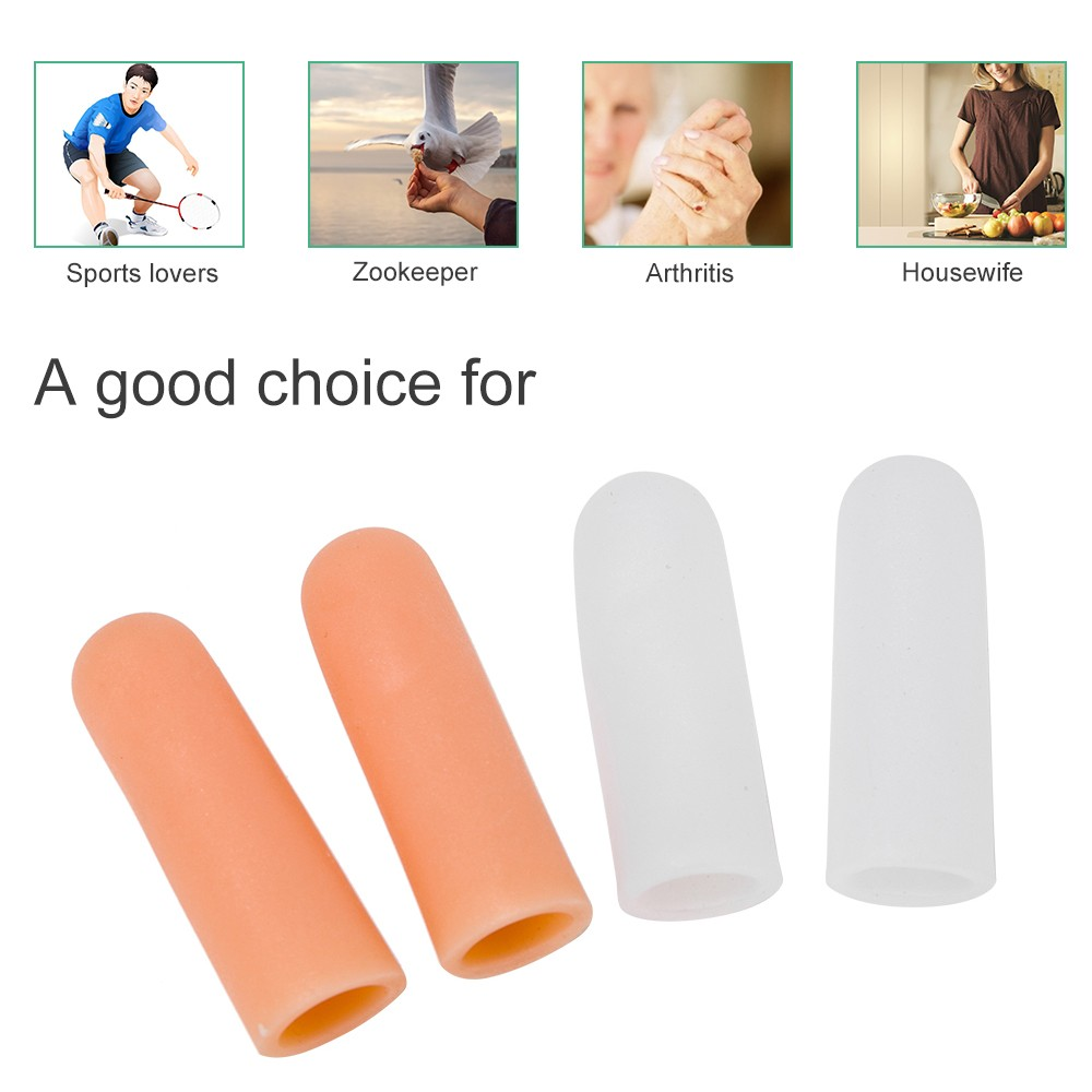 4pcs Silicone Thumb Sleeves Silica Gel Finger Protector For Arthritis Basketball Players Protective Finger Covers