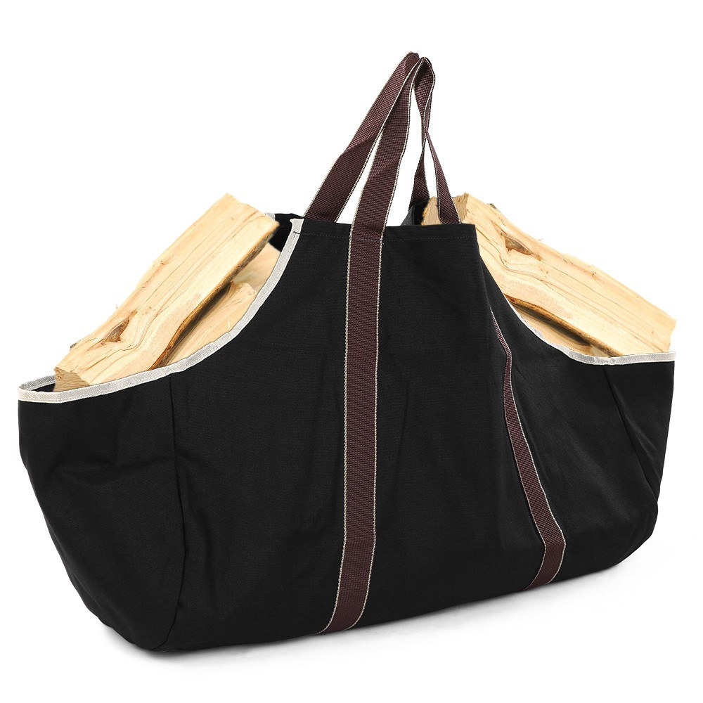 Firewood Log Carrier Bag Canvas Wood Tote Firewood Holder for Fireplaces Camping Wood Stoves Beaches