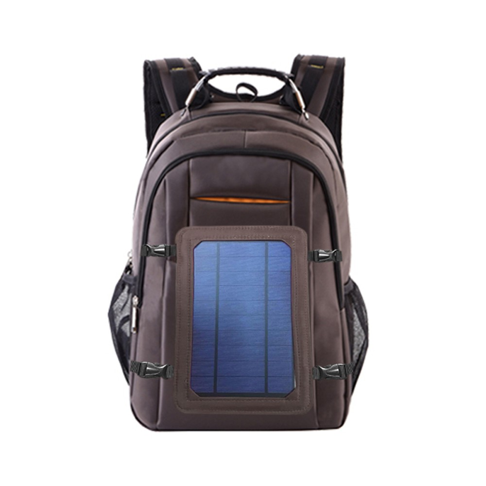 Solar Power Outdoor Charging Backpack with USB Port Waterproof Breathable Travel Bag Wear-resisting Large Capacity Backpacks