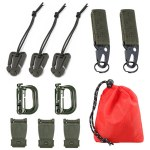 11 Attachment Kit for Tactical Molle Bag Backpack Vest Belt D-Rings Web Dominators Buckles Straps