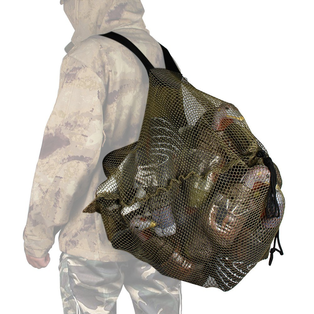 Outdoor Hunting Mesh Decoy Bag with Shoulder Straps Duck Goose Turkey Decoy Bag Backpack
