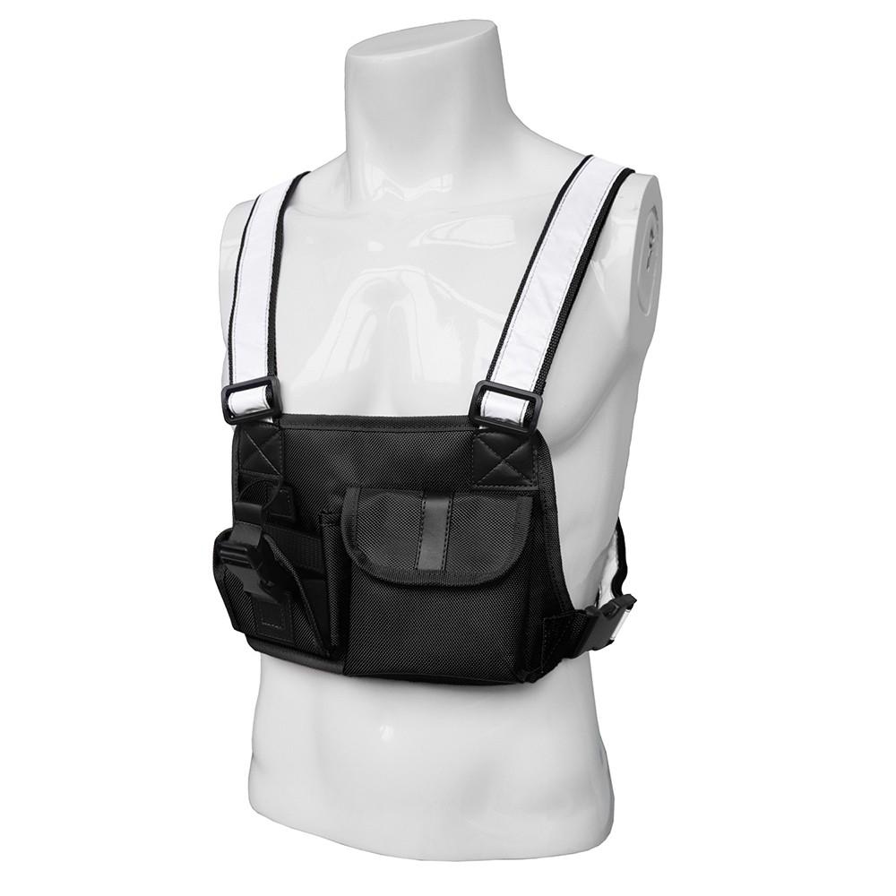 Men Outdoor Radio Chest Harness Bag Holster Holder Vest Rig