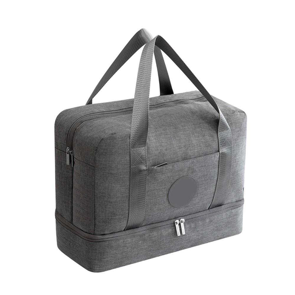 Luggage Travel Bag Waterproof Portable Double Layer Design Storage Clothes Shoes Bags Bra Underwear Zipper Pouch Grey