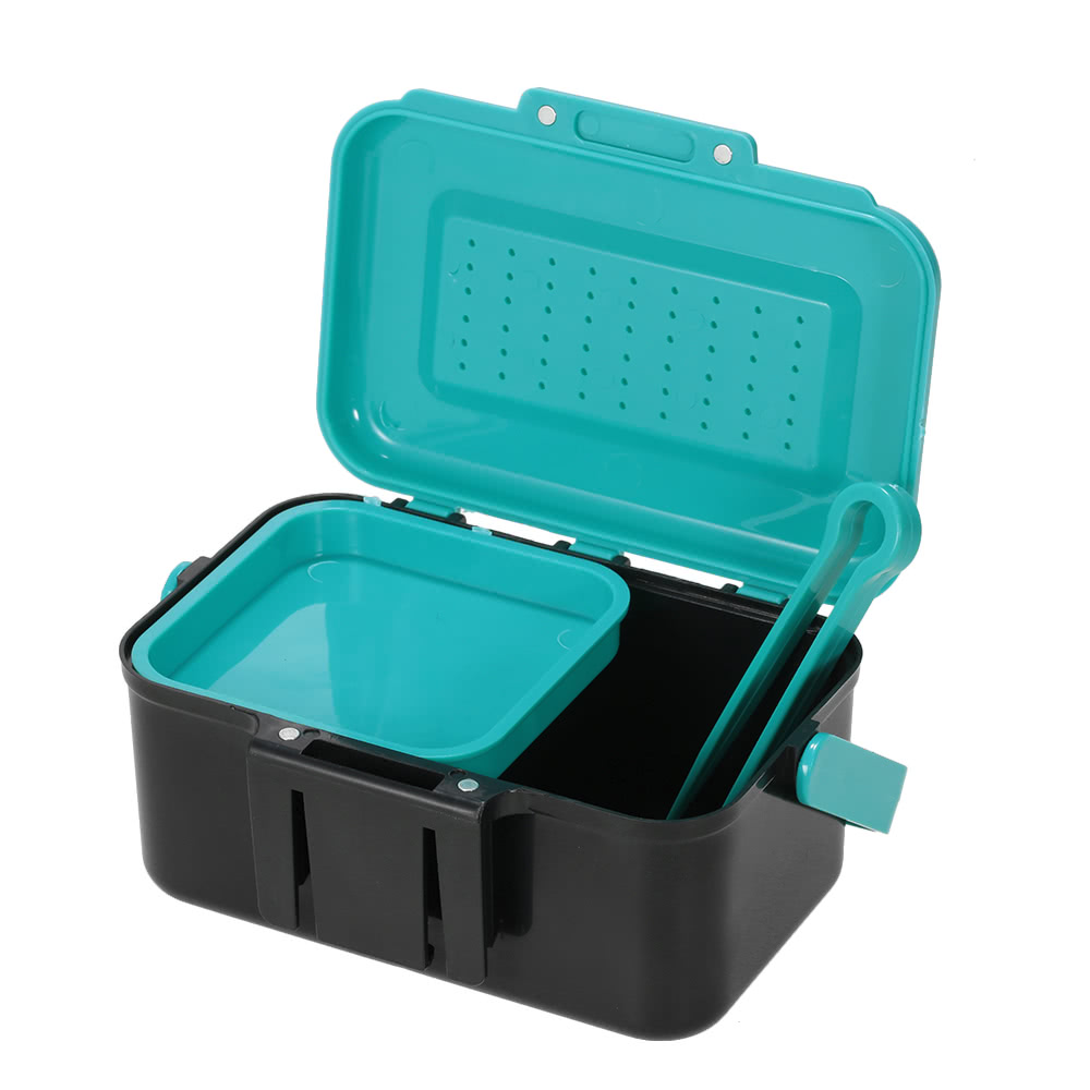Portable Fishing Lure Box Case Live Lure Bait Hook Earthworm Carrying Case Waist Fishing Tackle Box