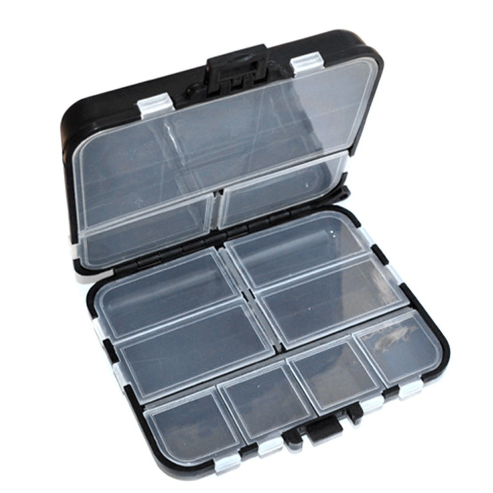 Mini Fishing Tackle Box Multiple Compartments Container Portable Waterproof Lure Bait Hook Case Outdoor Activity Tool