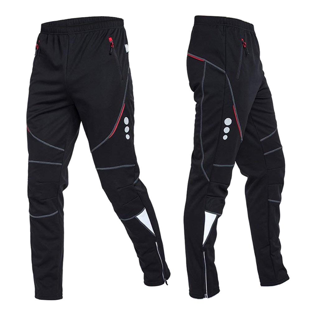 Men's Windproof Thermal Fleece Cycling Pants