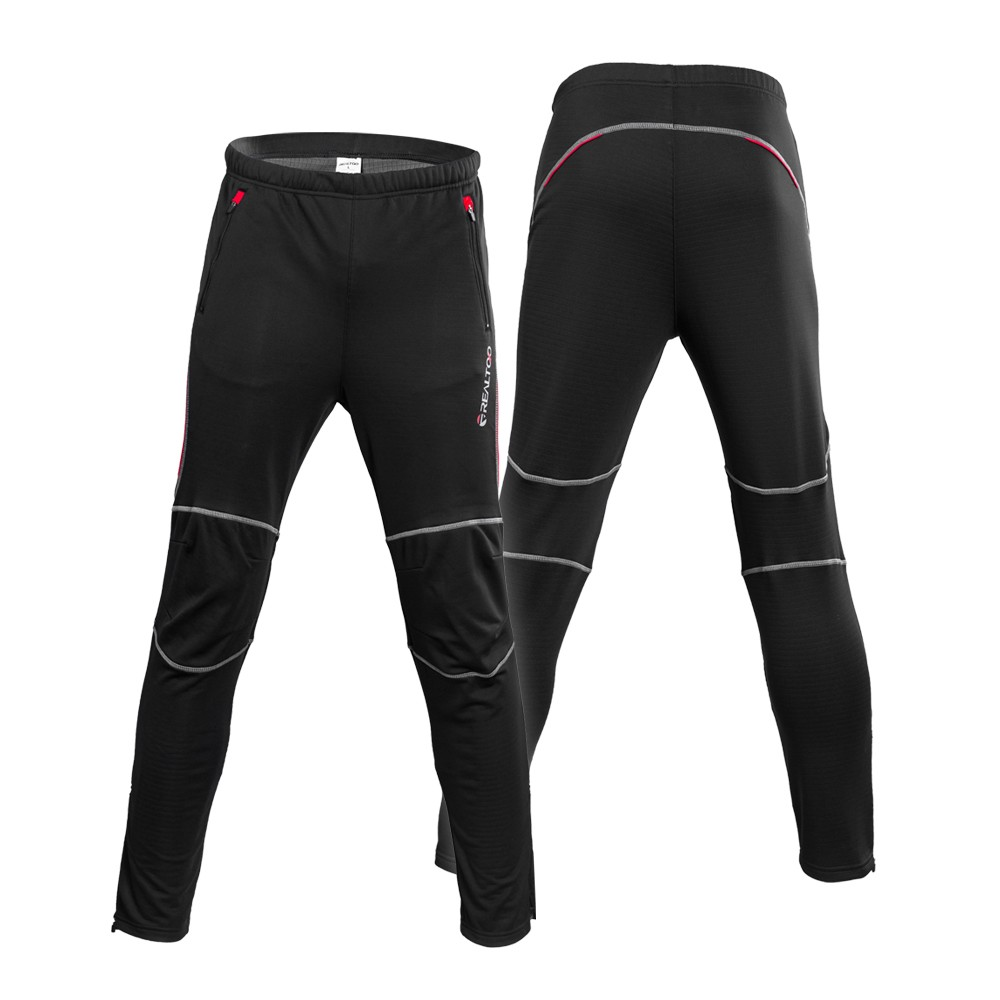 Men's Windproof Athletic Pants Winter Thermal Fleece Outdoor Sport Bike Cycling Riding Pants Trousers