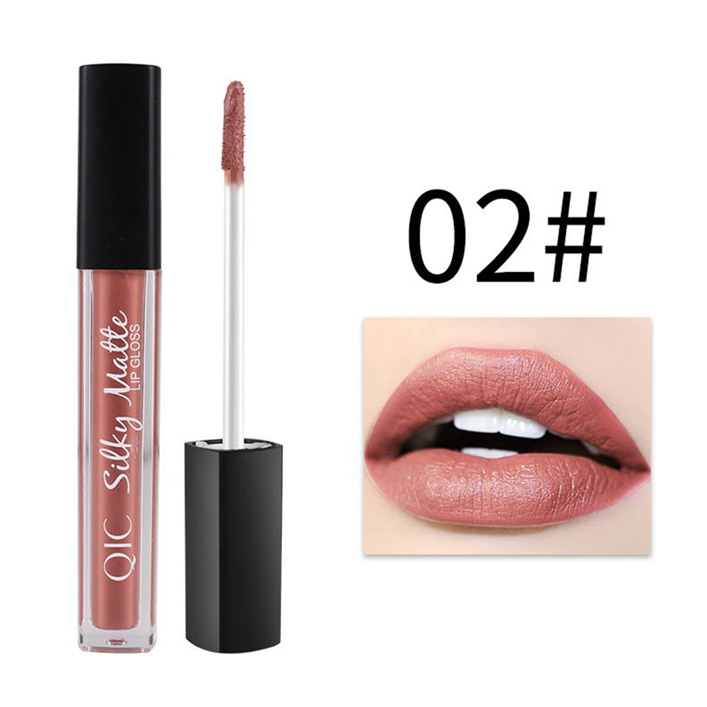 QIC 1PC Longlasting Moisturization Lip Gloss Makeup Color-preserving Nonstick Waterproof Unfade Moisturizing Lipgloss Matt Color Lipsticks Liquid 12 Colors Optional