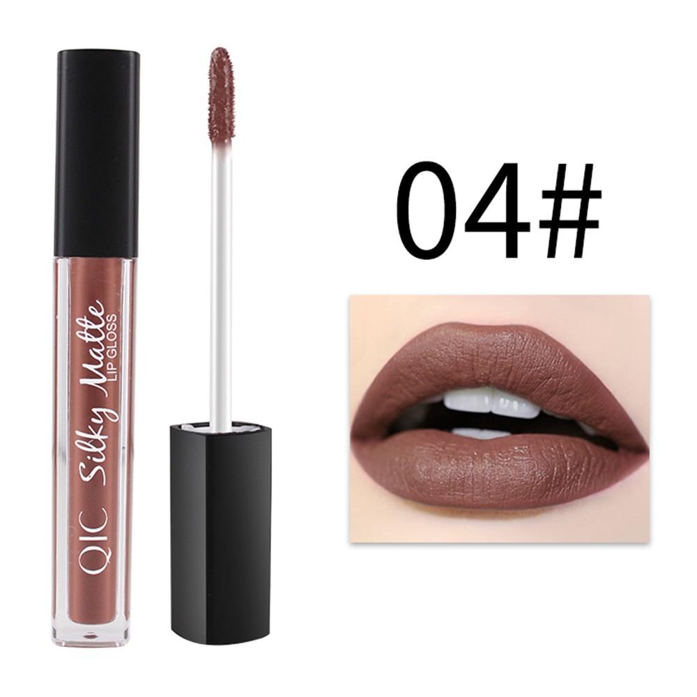 QIC 1PC Longlasting Moisturization Lip Gloss Makeup Color-preserving Nonstick Waterproof Unfade Moisturizing Lipgloss Matt Color Lipsticks Liquid 12 Colors Optional