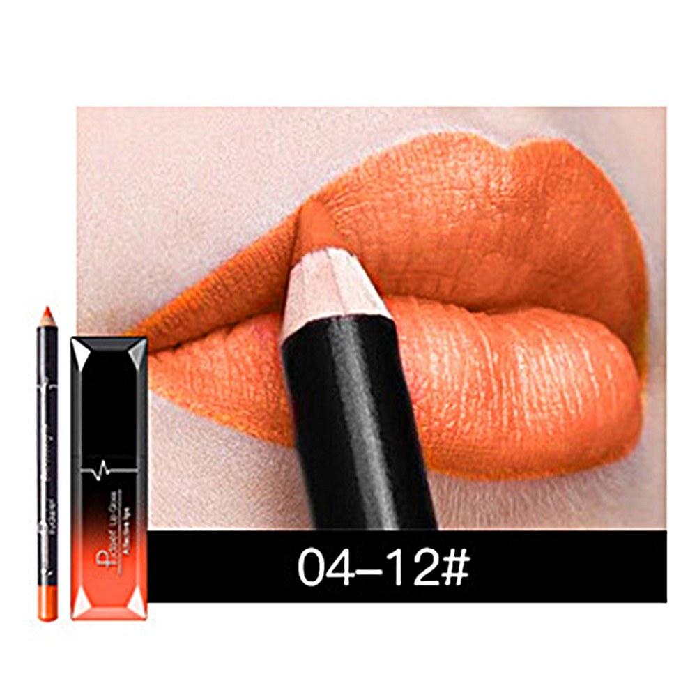 Pudaier Matte Lipstick Sets Long Last Lipstick + Lips Pencil Waterproof Lip Liner Lip Gloss Lip Beauty Maker