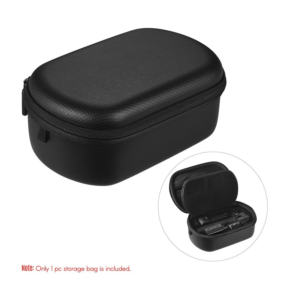 Portable Protective Smartphone Gimbal EVA Storage Box Bag Pouch Durable Carrying Case Waterproof & Shockproof with Double Zippers for Funblu Mini Handheld Gimbal Stabilizer Tripod Stand USB Cable Accessories