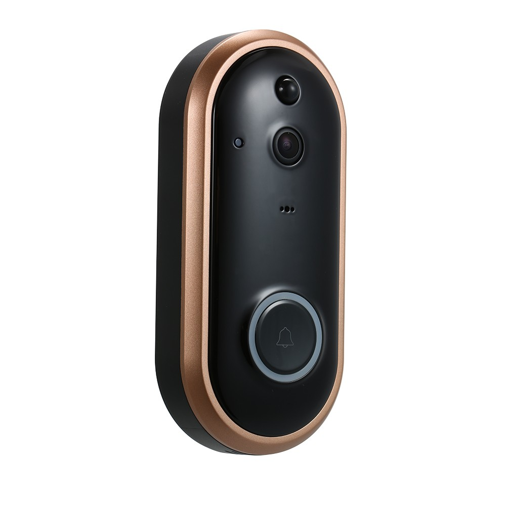 Smart WIFI 720P Security Doorbell with Visual Recording Night Vision PIR Motion Detection