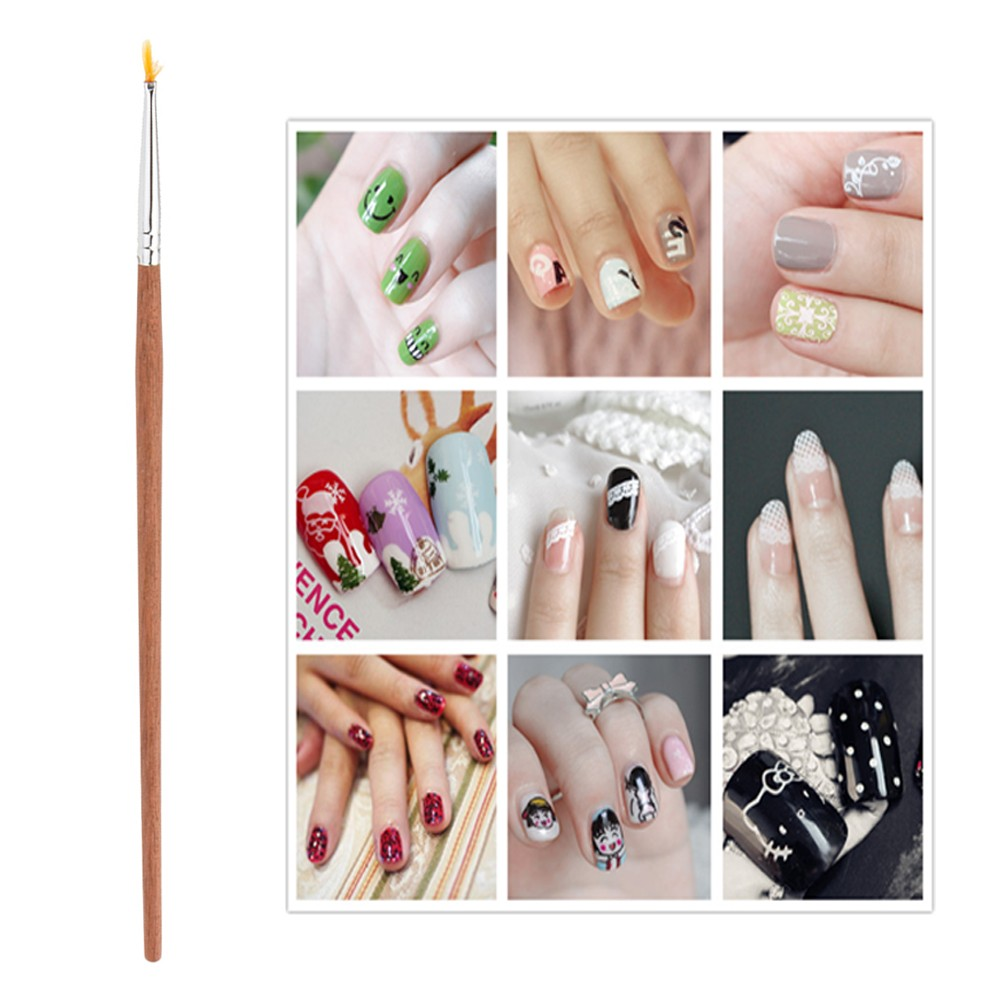 1PC Professional Cosmetics Makeup Brush Tiny  Acrylic Nail Art Tips Design Pen Painting Drawing Brush