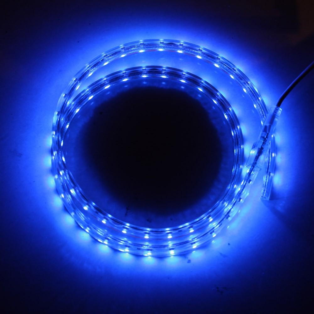 1M 60 LED/M 3528 SMD Flexible Strip Light Roll IP55 High Voltage Power Plug 220V