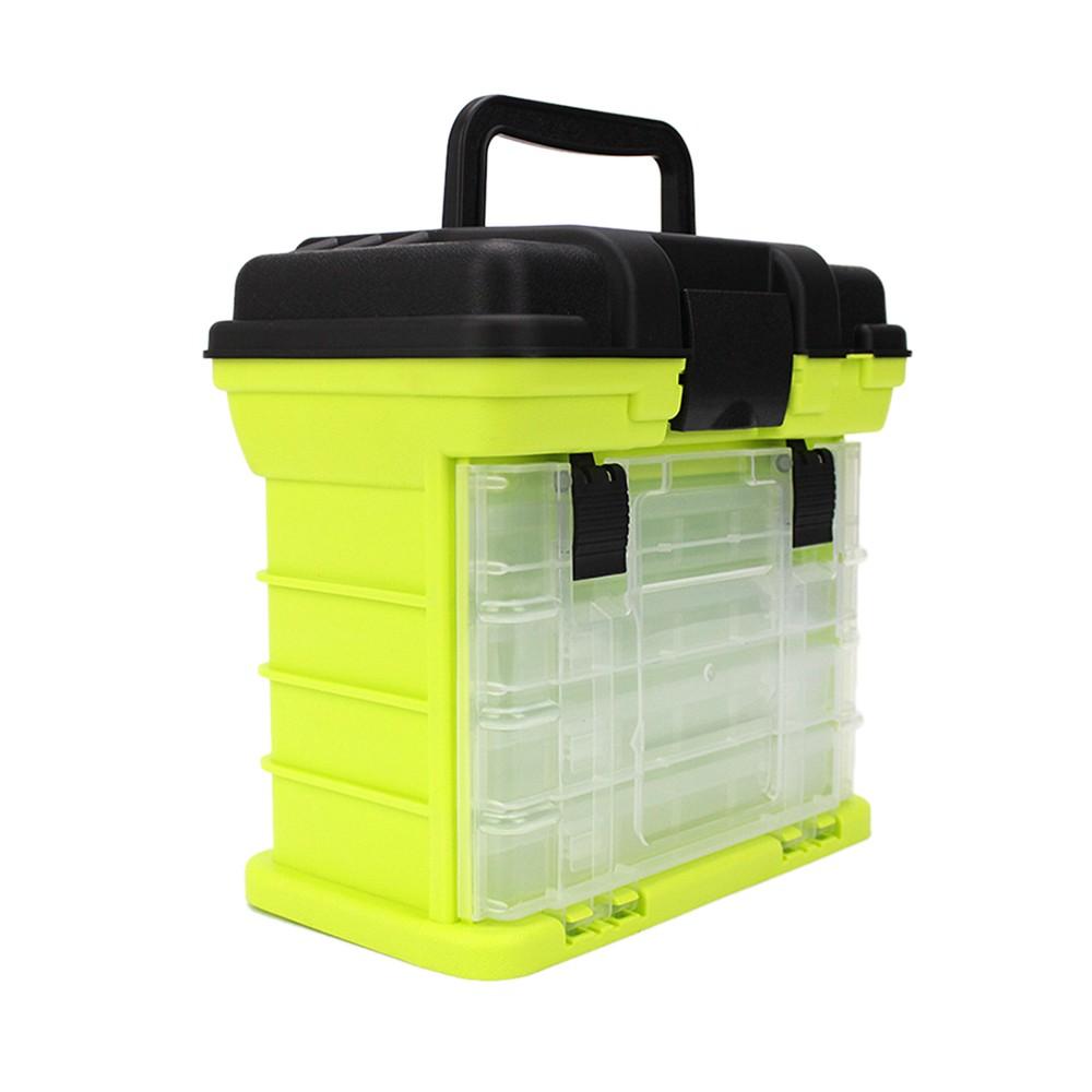 27*17*26c-m Portable 4 Layers Big Fishing Tackle Box Waterproof Carp Sea Boat Fishing Case Tools Fishing Accessories with Handle Utility Box