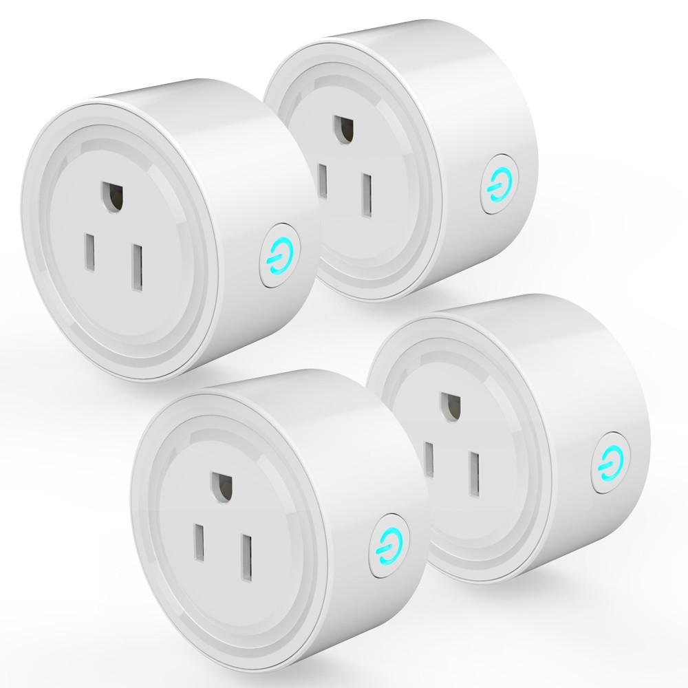 4Pack Smart Wi-Fi Mini Outlet Plug Switch Works With Echo Alexa Remote Control US Plug