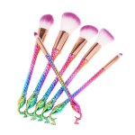 6Pcs Makeup Brush Set Nylon Hair Cosmetic Brushes Powder Foundation Eyeshadow Lip Brush Makeup Tools