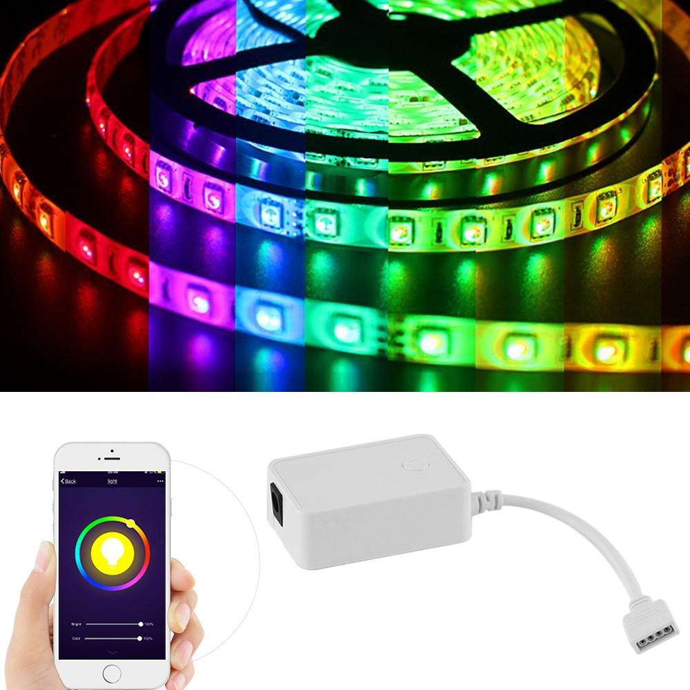 60W 5M RGBW 300pcs LED Flexible Strip Light Kit +Controller +Power Adapter UK Plug