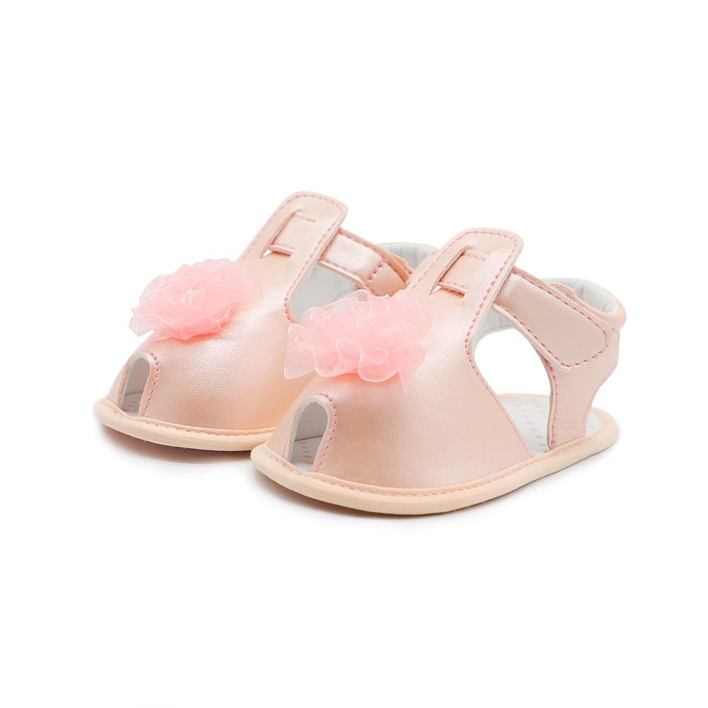 Infant Toddler Baby Shoes Summer Sandal Soft Sole Non-Slip Flower Prewalker White 4M