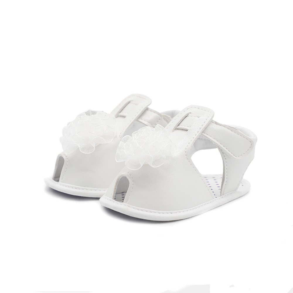 Infant Toddler Baby Shoes Summer Sandal Soft Sole Non-Slip Flower Prewalker White 4M