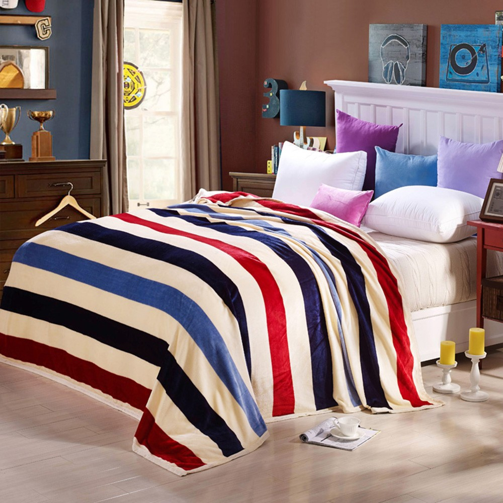 Ferret Polar-fleece Blanket of High Quality Polyester Fiber Soft and Warm 260g/㎡