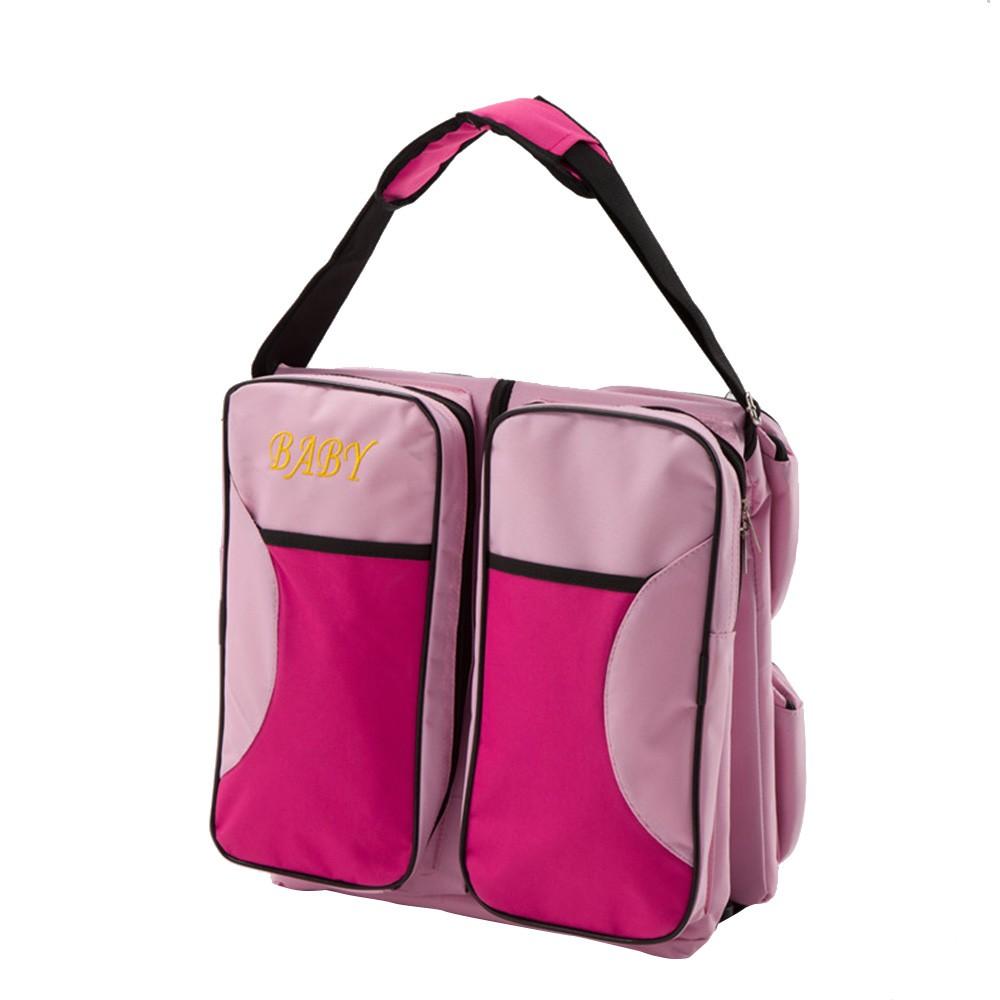 Multi-function Foldable Crib Bed Folding Bag Large Capacity Portable Mmmy Bags Newborn Carrier Shoulder Handbag Travel(Gtrey)