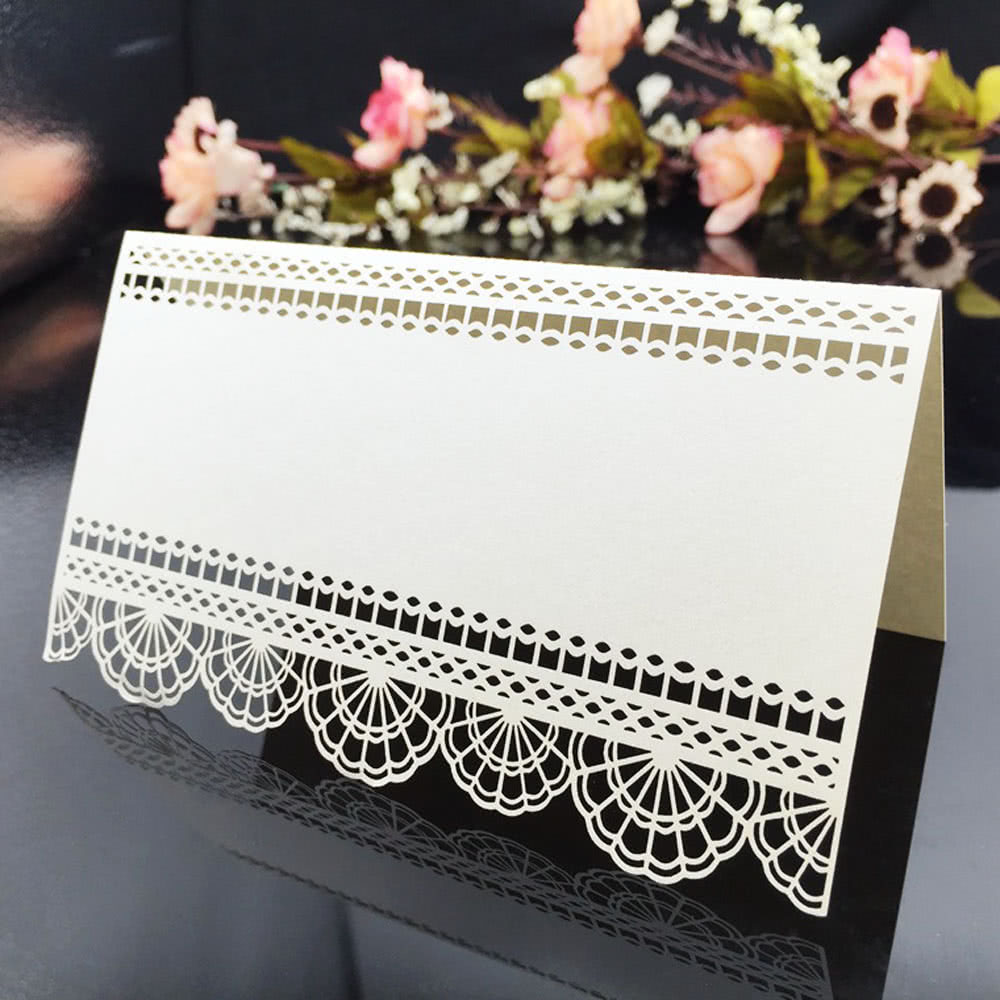 20 pcs Laser Cut Name Card Wedding Celebration Birthday Party Table Card Seats Decoration