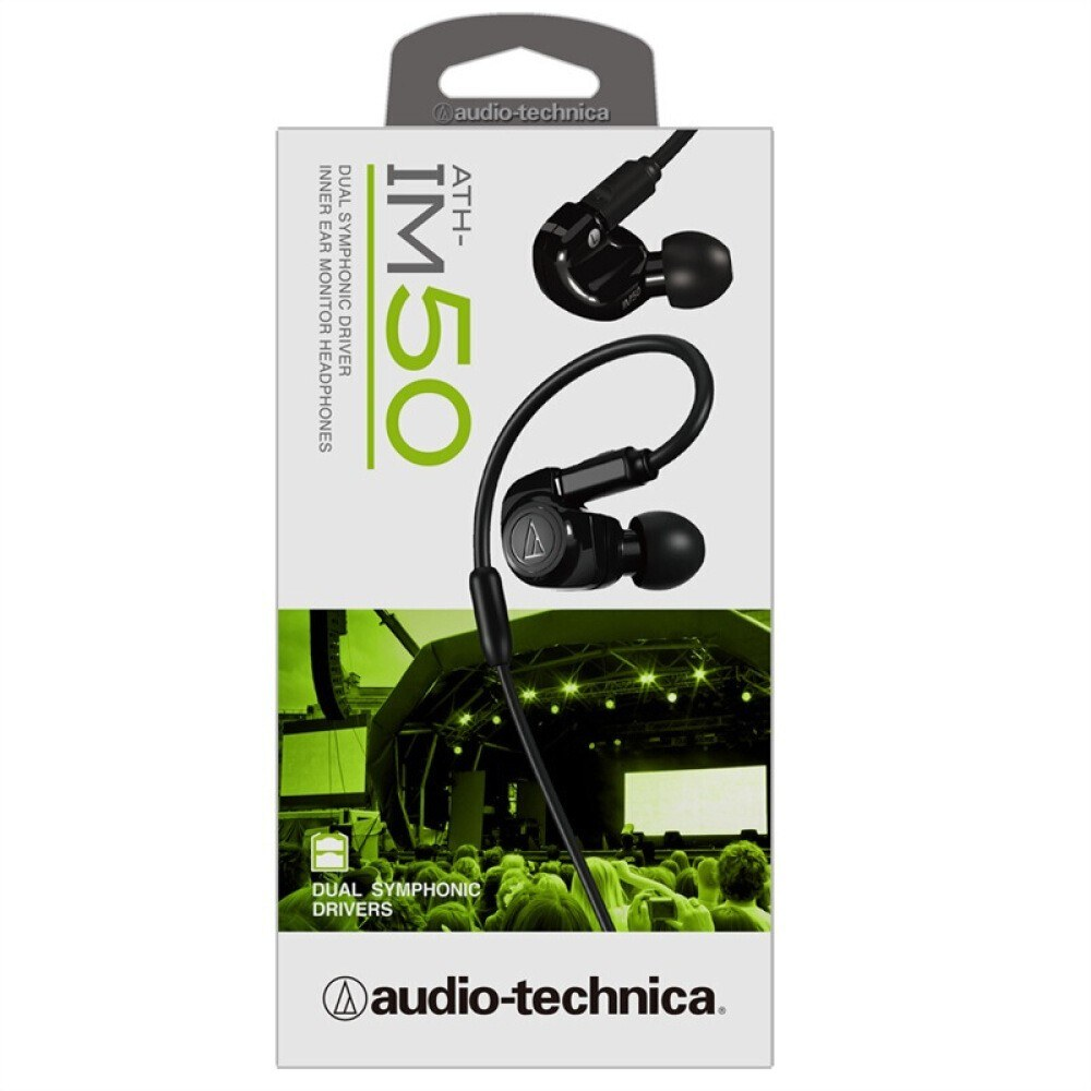 Iron Triangle (audio-technica) ATH-IM50 WH Double Moving In-Ear Earphones Black