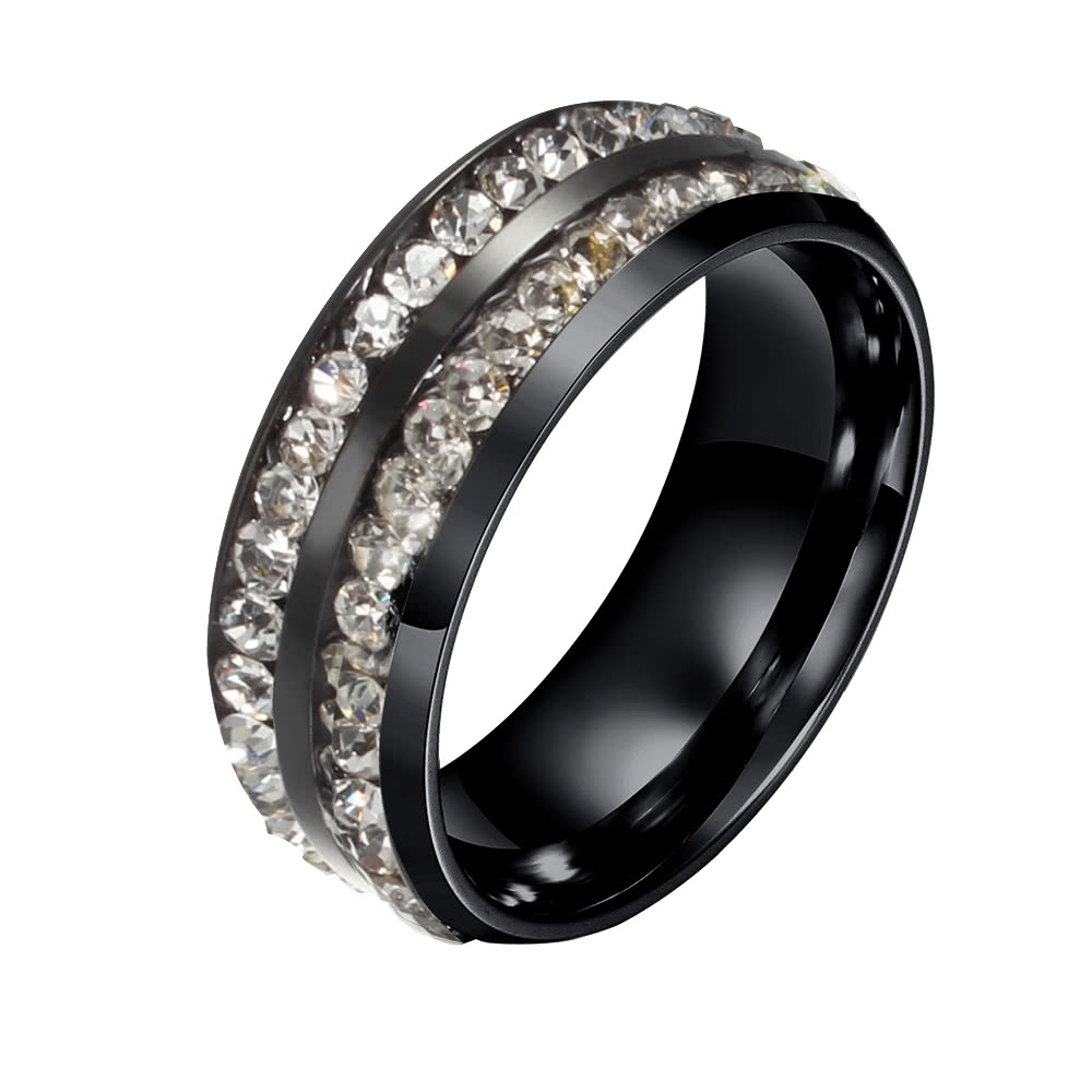Fashion New Hot Unique Punk Female Metal Titanium Steel Ring for Woman Party Wedding Band Gift Charm Jewelry