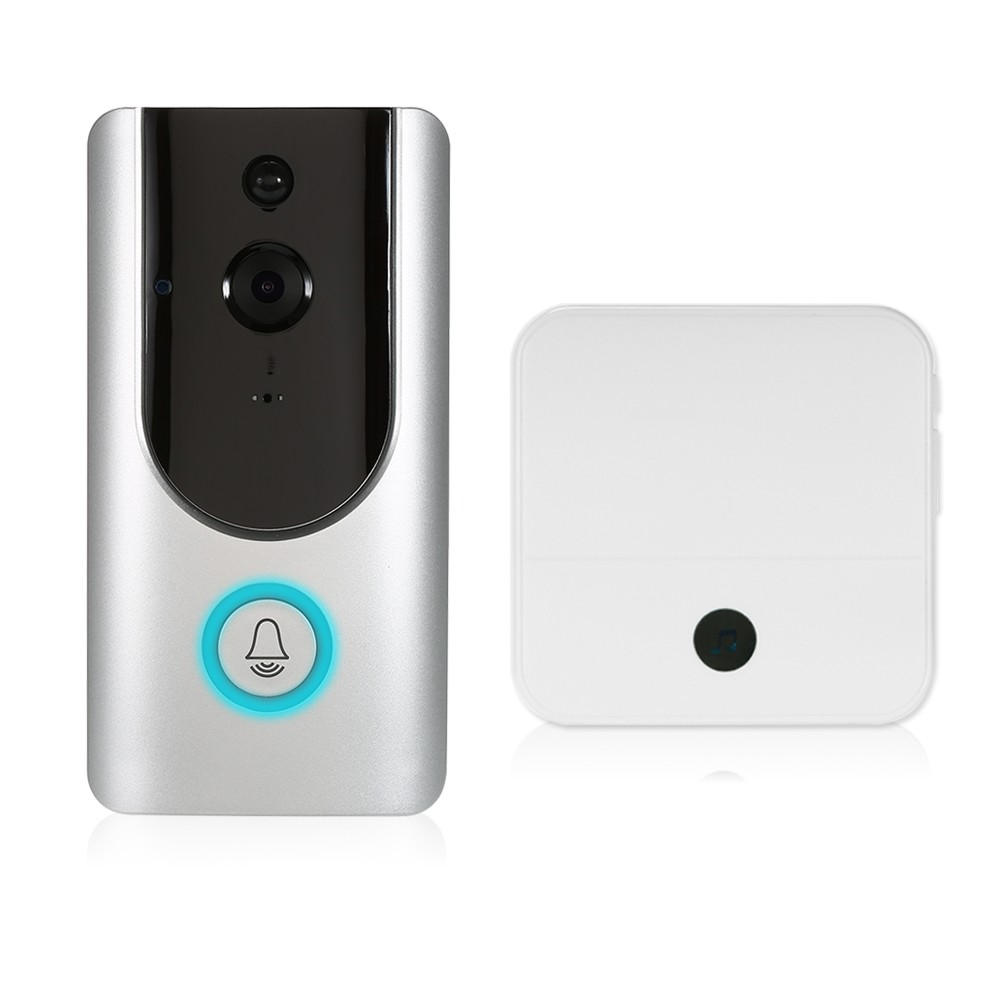 HD 1080P WiFi Smart Wireless Security Doorbell with 16G TF Card+2PCS 18650 Batteries+1*Wireless Doorbell Chime