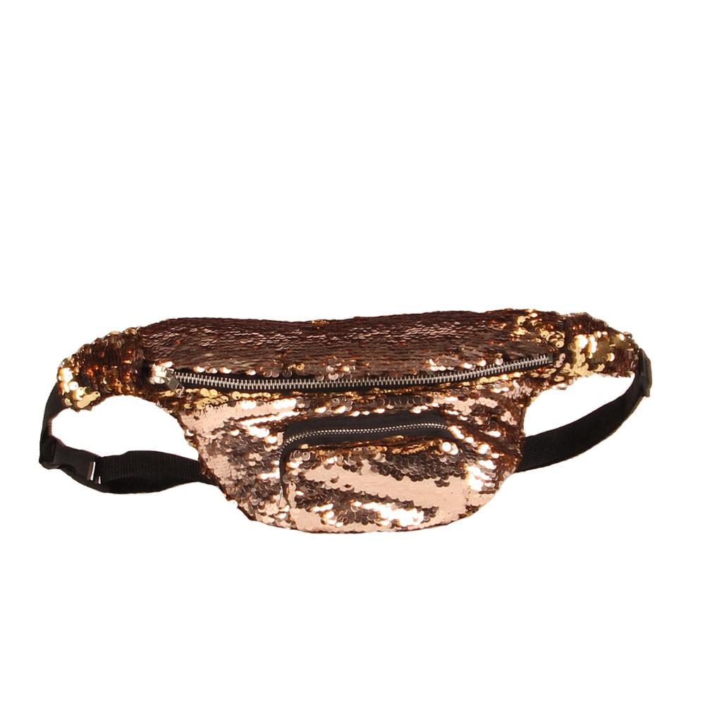 Women Sequins Fanny Pack Beach Waist Bag Chest Bag Sport Outdoor Travel Satchel Waist Pack