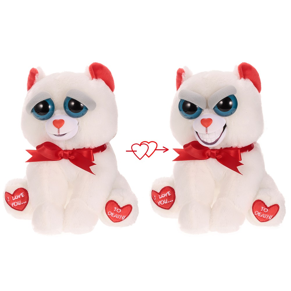 Feisty Pets Bear Taylor Truelove Feisty Films Adorable Plush Stuffed Toy Grins from Ear to Ear - Valentine's Gift Version