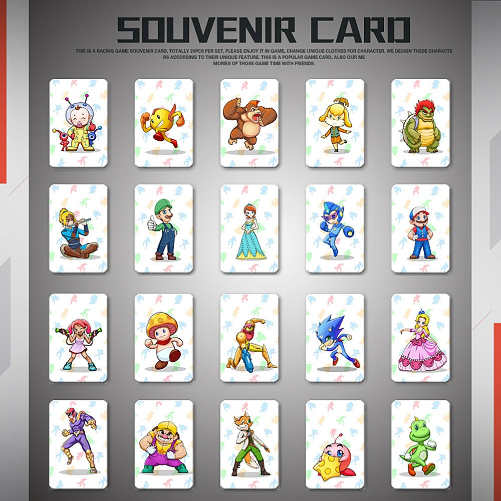 20pcs NFC 215 Tag Game Cards For Switch/Wii U