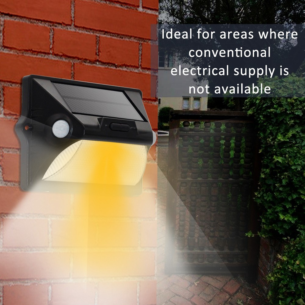 Solar Power Human Body Induction Outdoor Rechargeable Wall Light