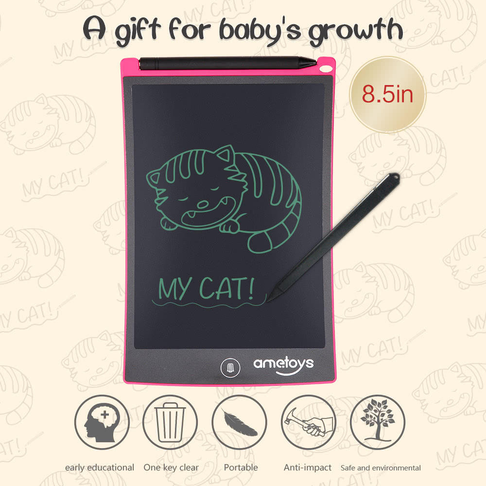 Ametoys 8.5-Inch LCD Writing Tablet Drawing - Pink