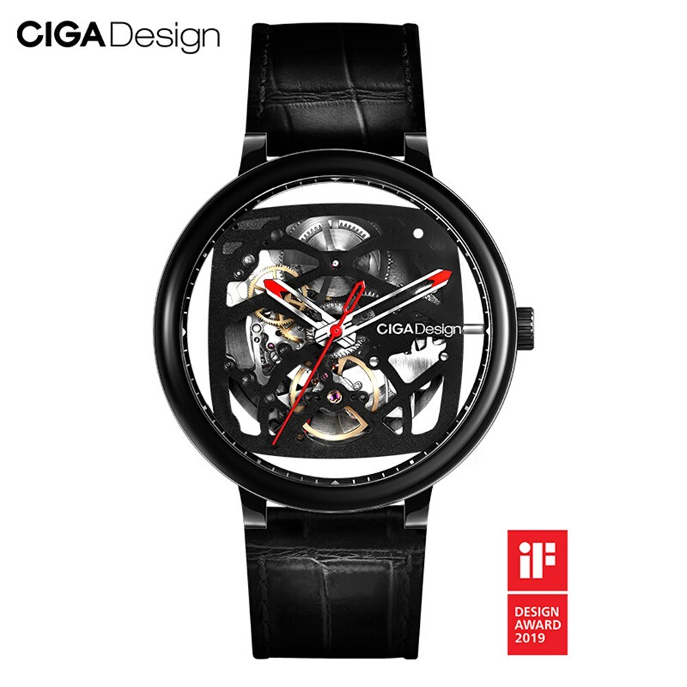 Xiaomi youpin CIGA Design Automatic Mechanical Watch Self-wind Wrist Watches 3ATM Waterproof Business Men Wristwatches Leather Strap
