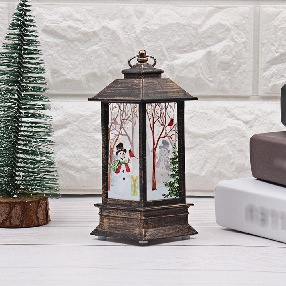 Christmas LED Night Light Desk Lamp Snowman Design Light
