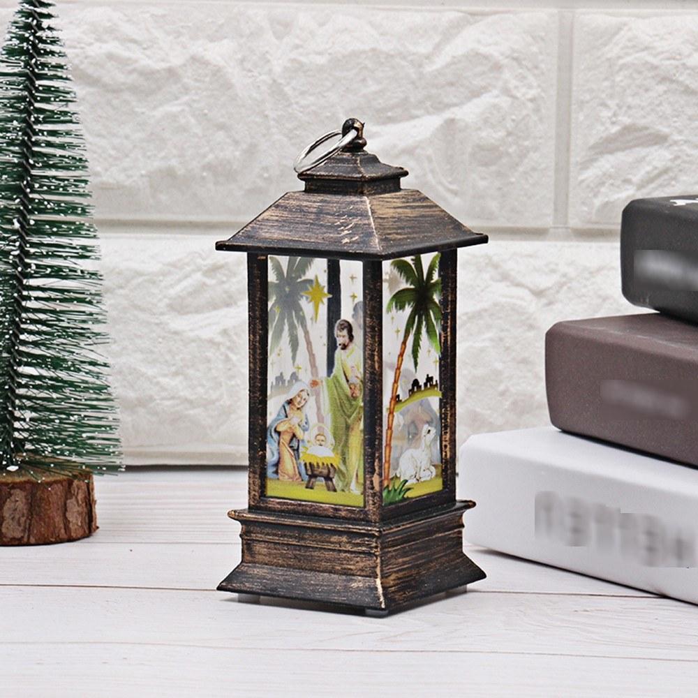 Christmas LED Night Light Desk Lamp Jesus Design Light