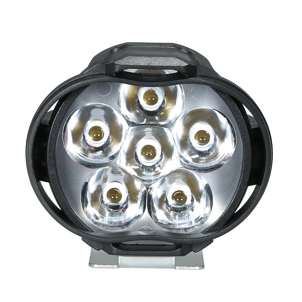 2pcs Universal LED Motorcycle Headlight Mirror Mount Driving Fog Spot Head   Light Spotlight Assist Lamp