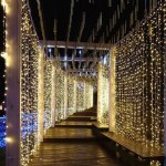 300pcs 3*3 meters Flexible LED Curtain Icicle String Lights Remote Control