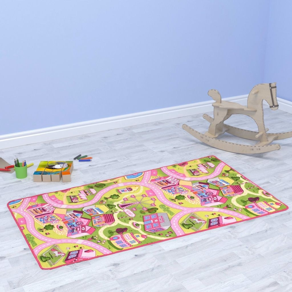 Play mat loop pole 190 x 290 cm Cute city pattern